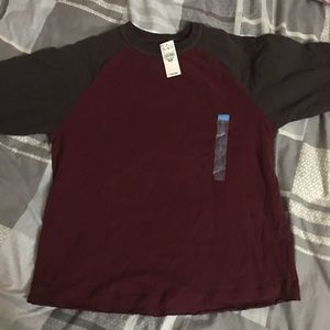 NWT Burgundy and Brown Kids long sleeve